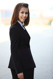 Portrait of a successful business woman smiling Royalty Free Stock Photos