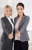Portrait: Successful business woman team making thumbs up gestur Royalty Free Stock Photo