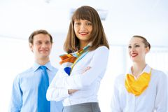 Portrait of a successful business woman Stock Images