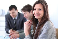 Portrait of modern business woman Royalty Free Stock Image