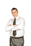 Portrait of the successful businessman stock photo
