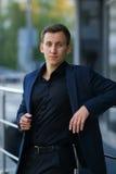 Portrait of successful businessman Stock Images