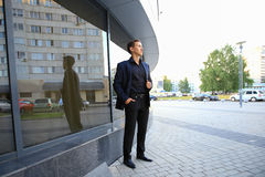 Portrait of successful businessman  in formals standing Royalty Free Stock Image