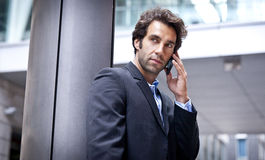 Portrait Of A Successful Businessman On The Phone Stock Photo