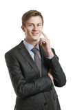 Portrait of a successful businessman smiling Stock Photos