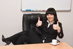 Portrait of successful businesswoman. Portrait of young businesswoman in office Royalty Free Stock Images