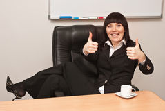 Portrait of successful businesswoman. Portrait of young businesswoman in office Stock Photos
