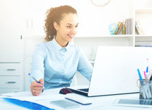 Portrait of successful businesswoman in office Royalty Free Stock Image