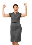 Portrait Of Successful Businesswoman Screaming Stock Images