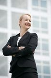 Portrait of a successful businesswoman smiling outside office building Stock Photography