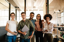 Portrait of successful creative business team royalty free stock image