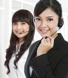 Portrait of a successful female call centre Royalty Free Stock Photography