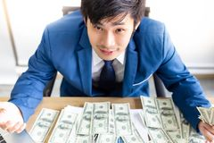 Portrait successful handsome businessman. Attractive handsome bu royalty free stock image