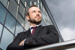 portrait of successful handsome businessman stock image