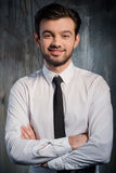 Portrait of successful handsome man Royalty Free Stock Photos