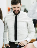 Portrait of a successful Manager in the workplace in the office Royalty Free Stock Photos