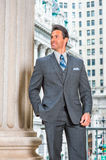 Portrait of Successful Middle Age American Businessman in New Yo Royalty Free Stock Images