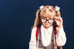 Portrait of Pupil Girl royalty free stock photo