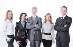 Portrait of a successful professional business team. royalty free stock photos