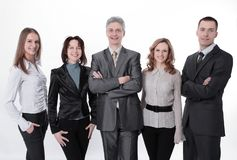 Portrait of a successful professional business team. stock images