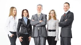 Portrait of a successful professional business team. royalty free stock photo