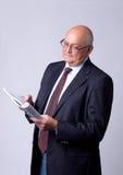 Portrait of a successful senior man Stock Photos
