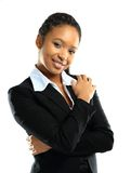Portrait of a successful young business woman Stock Images