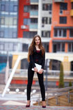 Portrait of Successful young business woman.outdoors Royalty Free Stock Photography