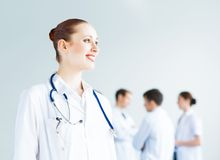 Portrait of successful young doctor Stock Images