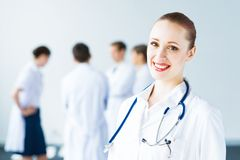 Portrait of successful young doctor Royalty Free Stock Photography