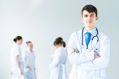 Portrait of successful young doctor Royalty Free Stock Photo