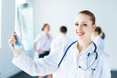 Portrait of successful young doctor Stock Photography