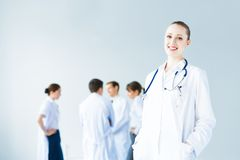 Portrait of successful young doctor Royalty Free Stock Photos