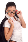 Portrait of successful young woman with glasses Royalty Free Stock Photography