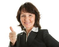 Portrait of sucessful senior businesswoman Royalty Free Stock Photo