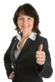 Portrait of sucessful senior businesswoman Stock Images