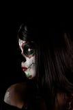 Portrait of Sugar skull girl stock image