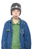 Portrait of a sulking teenager boy Stock Image