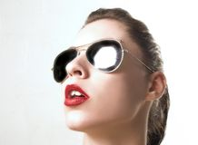 Portrait with sunglass royalty free stock photos