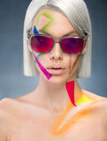 Portrait with sunglasses Stock Image