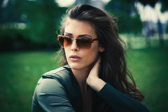Portrait with sunglasses Stock Images