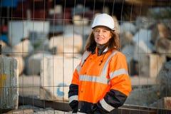 Portrait supérieur d'ingénieur de femme Photos stock
