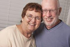 Portrait supérieur heureux de couples Images libres de droits