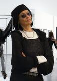 Portrait of supermodel Veruschka (Vera Lehndorff) Royalty Free Stock Photo