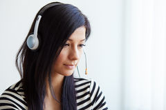 Portrait of support female phone operator Stock Image