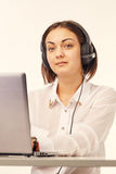 Portrait of a support phone operator Royalty Free Stock Photography