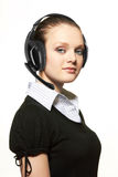 Portrait of support phone operator in headset Royalty Free Stock Photos