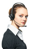 Portrait of support phone operator Stock Photography