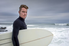 Portrait of Surfer in Jeffreys Bay Stock Photos