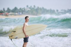 Portrait of surfer royalty free stock photo